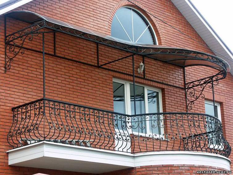 Крыш над балконом своими руками фото